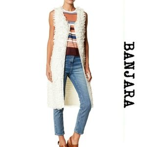 Banjara Yarn Loop Sleeveless Open Duster Cardigan